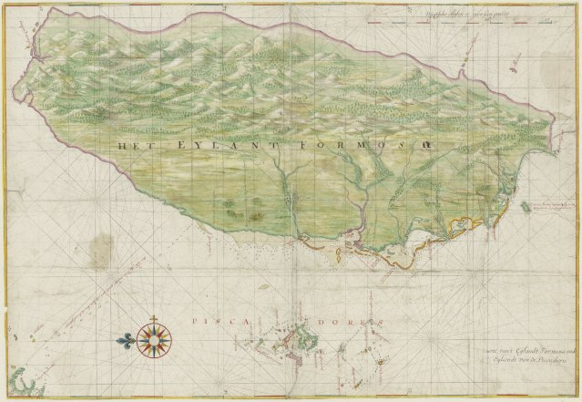 1640_Map_of_Formosa-Taiwan_by_Dutch_荷蘭人所繪福爾摩沙-臺灣.jpg